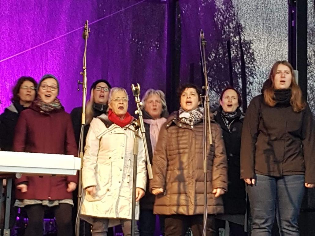 Dezember 2018 Auftritt auf dem Benrather Weihnachtsmarkt